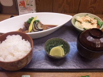 お料理れもんマグロほほ肉ステーキ定食